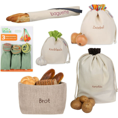 Slowroom pane-, baguett-, verdura-, frutta, patate, aglio-Bustina-borsa