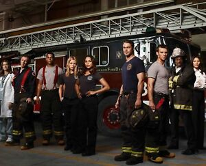 """CHICAGO FIRE CAST A4 GLOSS POSTER PRINT LAMINATED 10.2/""""x8.3/"""""""