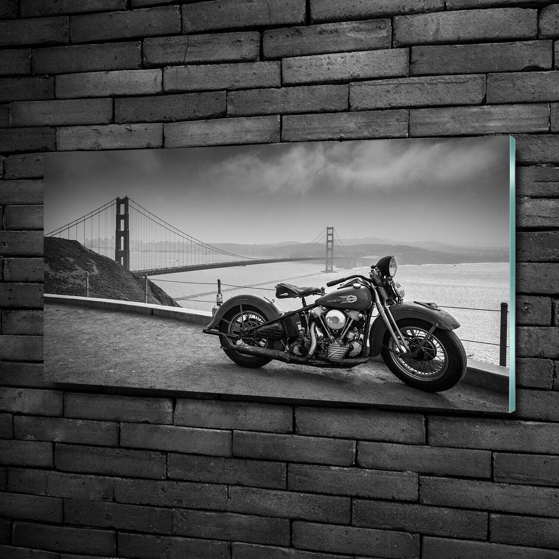 Wandbild aus Plexiglas® Druck auf Acryl 100x50 Fahrzeuge Motorrad