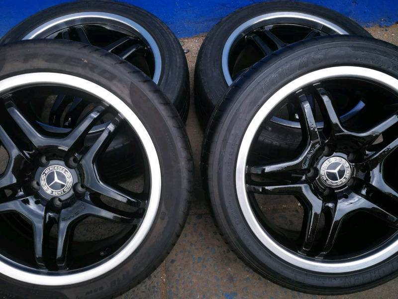A set of 18inch Mercedes AMG mags and tyres