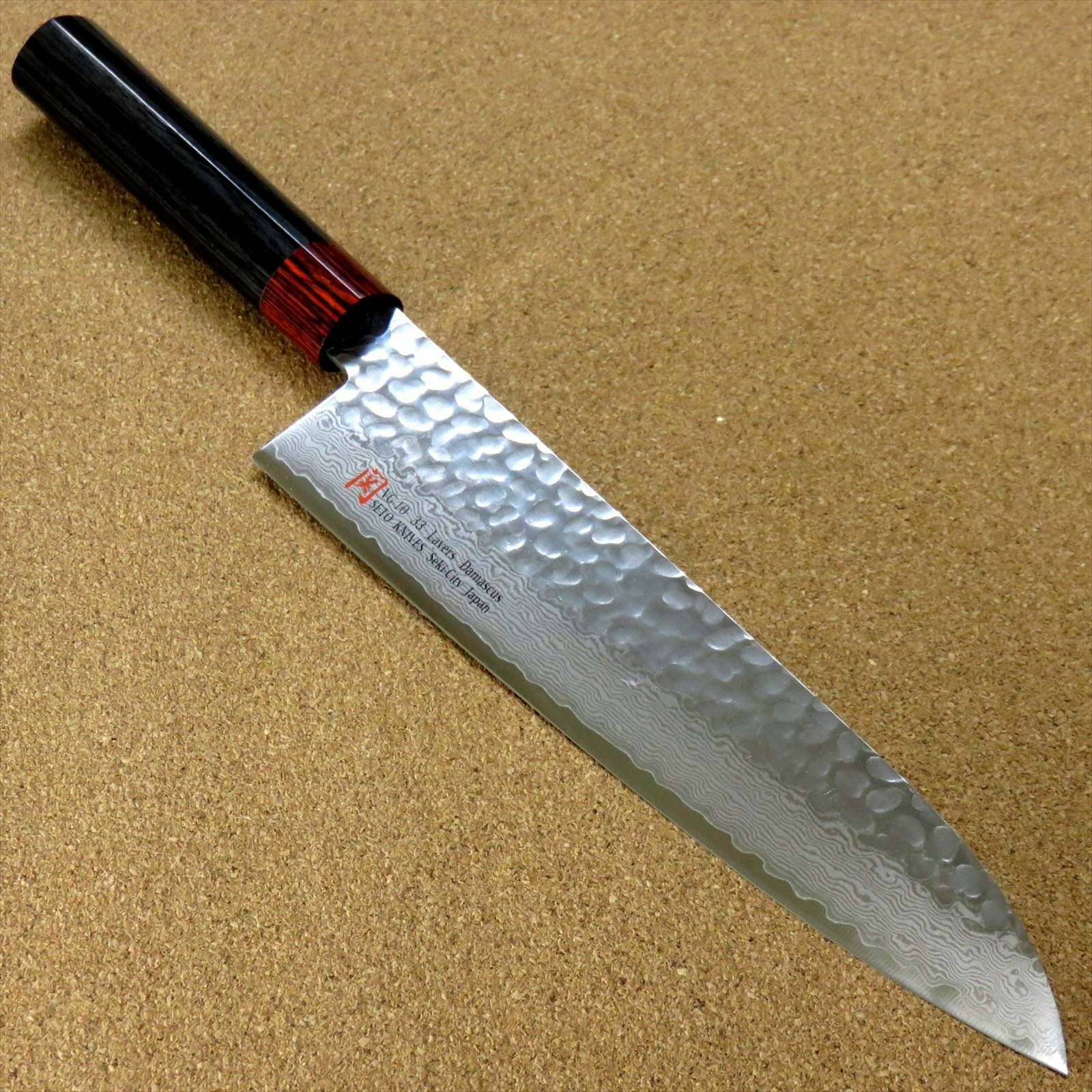 Japonais Seto ISEYA-I Cuisine Gyuto chef couteau 8.3  Damas martelé SEKI JAPAN
