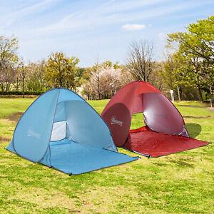 Outsunny-Wurfzelt-Strandzelt-Pop-Up-Zelt-Strandmuschel-Automatisch-Campingzelt