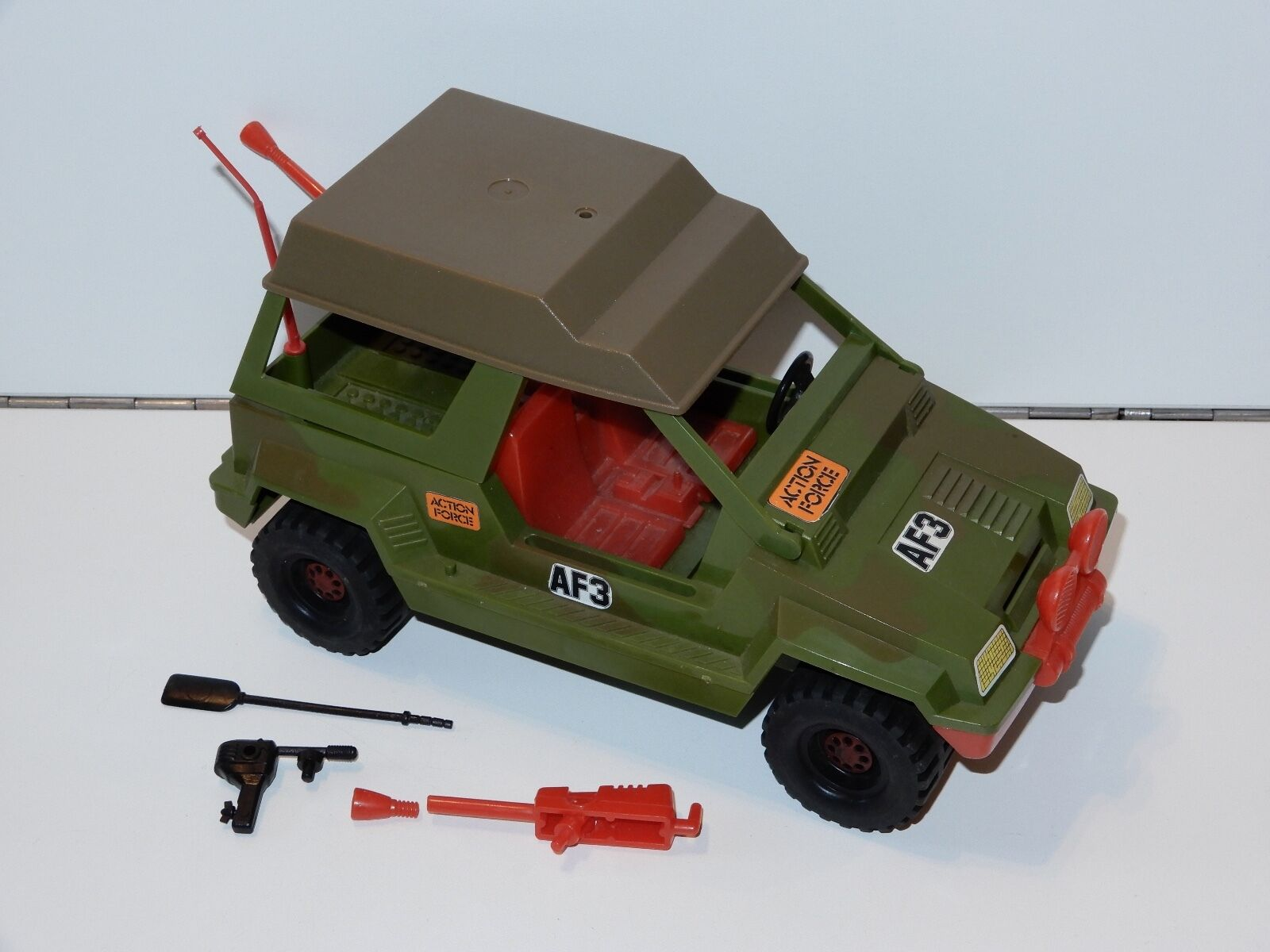 1982 GI JOE   ACTION FORCE AF3 PATROL VEHICLE 100% COMPLETE PALITOY