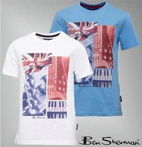 Garcons-Ben-Sherman-en-coton-a-manches-courtes-en-jersey-T-Shirt-Tailles-Age-De-7-To-15-ans