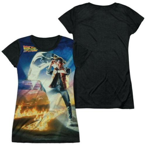 """Details about  /Back To The Future Trilogy /""""Movie Poster/"""" Dye Sublimation Girl/'s Jr Babydoll"""