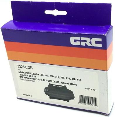 New Sealed GRC T326-COB Ribbon Adler Royal Satelite III IBM Actionwriter 1 /& 2