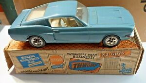 Vintage-AMF-Wen-Mac-1967-Ford-Mustang-Fastback-2-2-Battery-Op-in-Original-Box