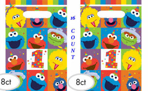 Image Is Loading Sesame Street Elmo 1st Birthday Favor Loot Bags