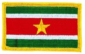 Patch-Embroidered-Flag-Suriname-Thermoadhesive-Insignen-Coat-of-Arms
