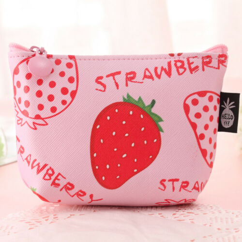 Cute Fruit Pattern Women Girl Kid Wallet Coin Purse Earphone Card Storage Bag