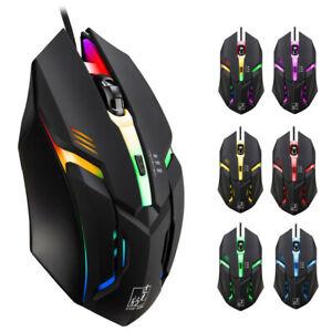 K2-Wired-LED-Light-4-Keys-1600DPI-Optical-Usb-Ergonomic-Pro-Gamer-Gaming-Mouse-S