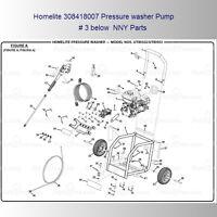 Homelite Pressure Washer 308418007 7/8 Hollow Shaft Triplex Plunger Pump