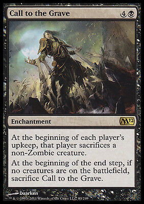 CALL TO THE GRAVE NM mtg M12 Black Enchantment Rare