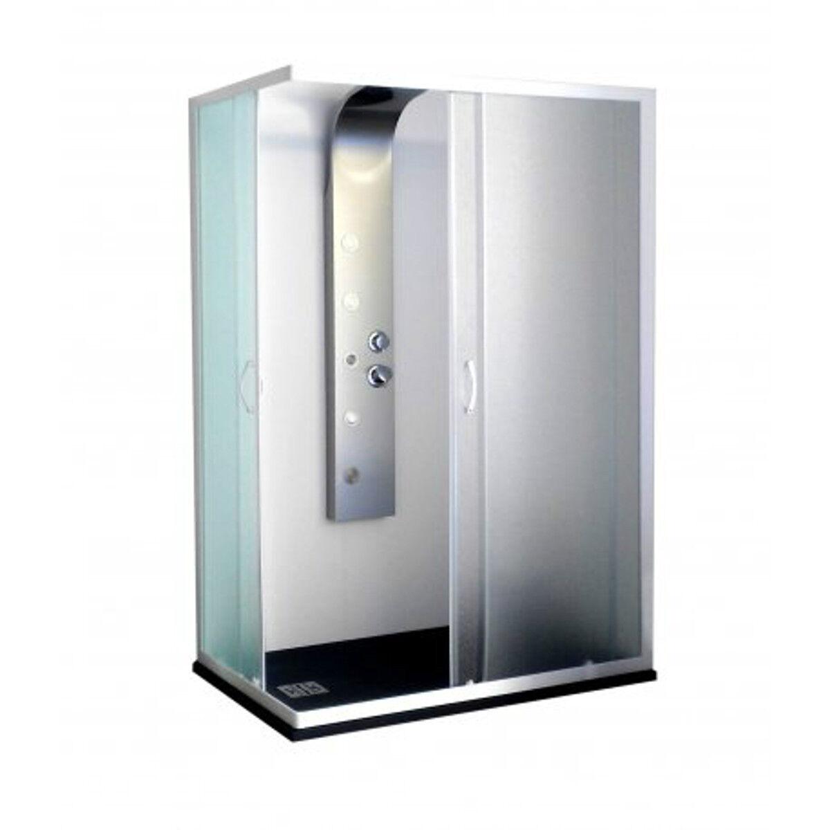 BOX DOCCIA BAGNO ANGOLARE BIANCO 80X100 80X120 80X80 75X75 OPACO 4 mm. H 185 cm