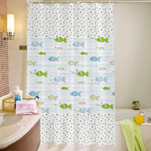 Cute Cartoon Fish Printed Waterproof  Mildew Proof Bathroom Shower Curtain 6A