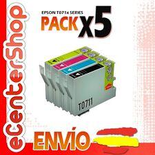5 Cartuchos T0711 T0712 T0713 T0714 NON-OEM Epson Stylus SX215