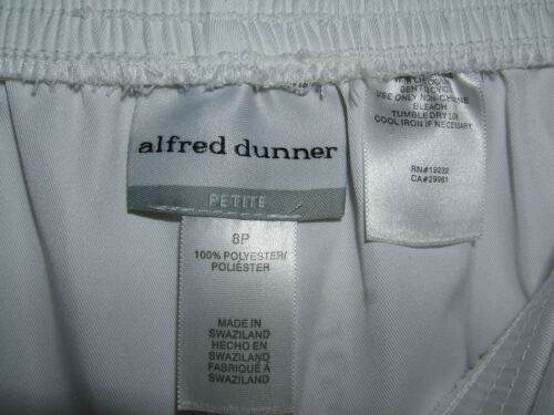 a174ca67335 6 of 7 Alfred Dunner Woman s Stretch Pants Sz 8 Petite Proportioned Short  White ...