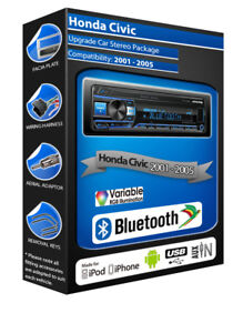 Honda-Civic-Autoradio-Alpine-UTE-200BT-Vivavoce-Bluetooth-senza-Parti-Mobili