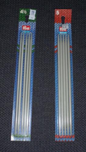 Strumpfstricknadeln Nadelspiel Stärke 4,5 und 5 Alu neu von Prym