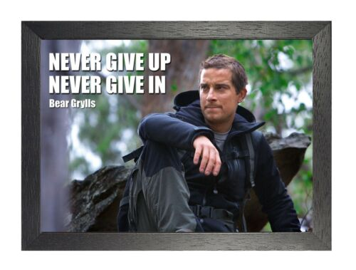 1 Bear Grylls Photo British Adventure Picture Motivation Quote Print TV Poster