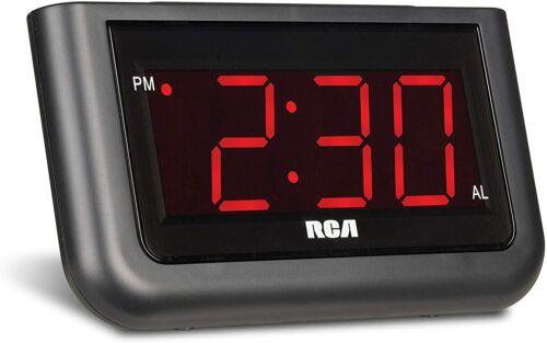 "RCD30 RCA Digital Alarm Clock Large 1.4/"" LED Display NEW"