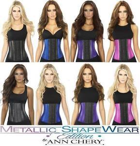 af2baba93 Image is loading Ann-Chery-Faja-Metallic-Shapewear-Waist-Cincher-Latex-