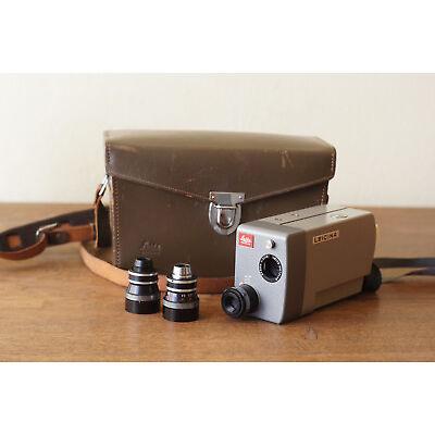 Filmkamera Leica Leicina 8S8mm + original Ledertasche + Dygon 1:2 9mm Objektiv
