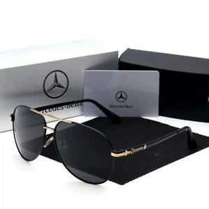 Détails sur Lunettes de soleil noires polarisées neuves Mercedes Benz + étui