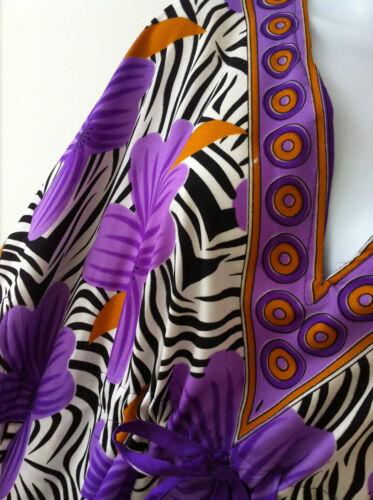 Purple Flower Boho Tunic Kaftan