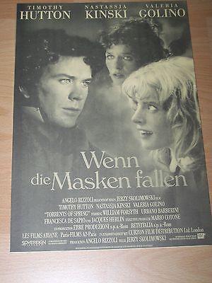 Nastassia Kinski Timothy Hutton QualitäTswaren Presseheft ´90 Ehrlichkeit Wenn Die Masken Fallen