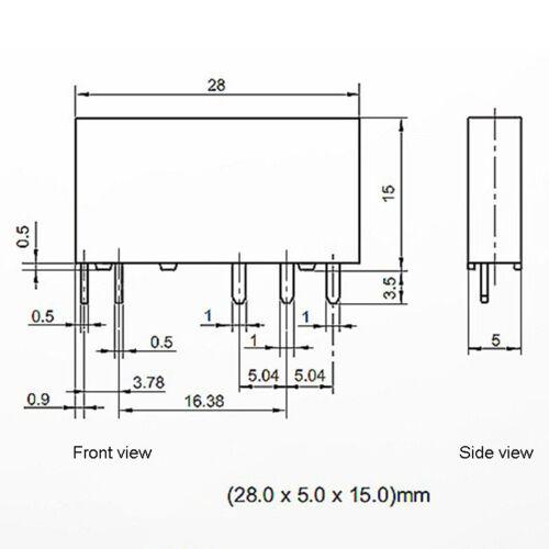 Ultra-thin Intermediate Relay Module MPC250D6Z24 BPT-61 Base 24V DC 250VAC 8A