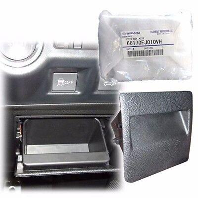 2013-2016 XV Crosstrek JDM leather Silver stitches MFD hood console panel S207