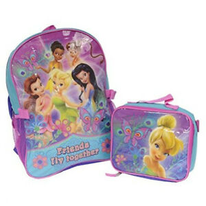 9fa7fcedcfb Disney Fairies Friends Fly Together 16 Inch Backpack with Lunch Box ...
