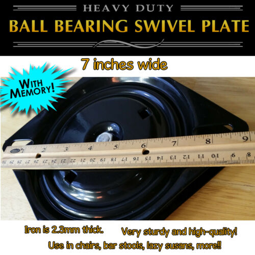 Full Ball Bearing Flat Swivel Plate with MEMORY RETURN 1pc 7 inch 173mm