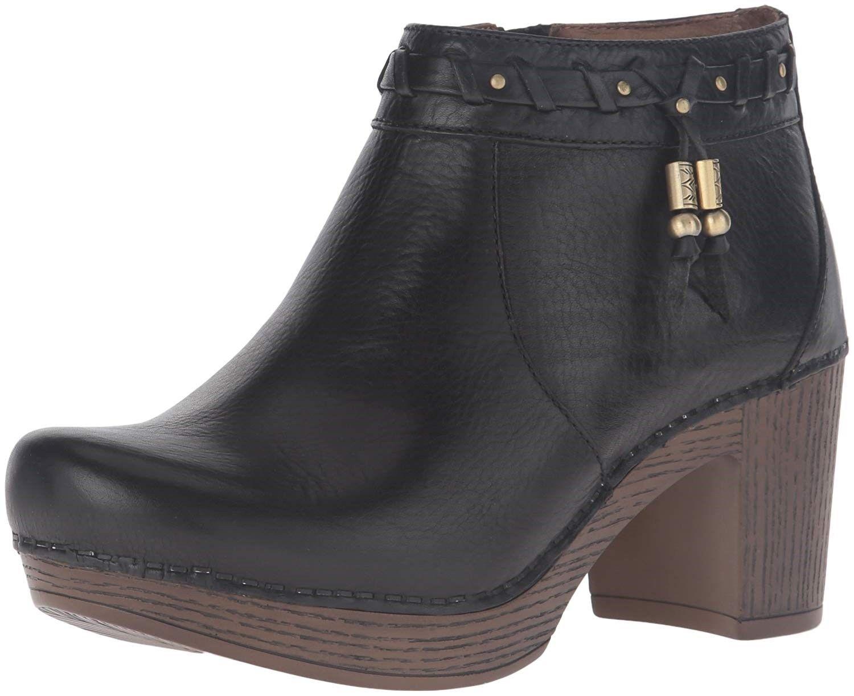 DANSKO Womens 'Dabney' black Leather Sz 41 Ankle Boot 234419