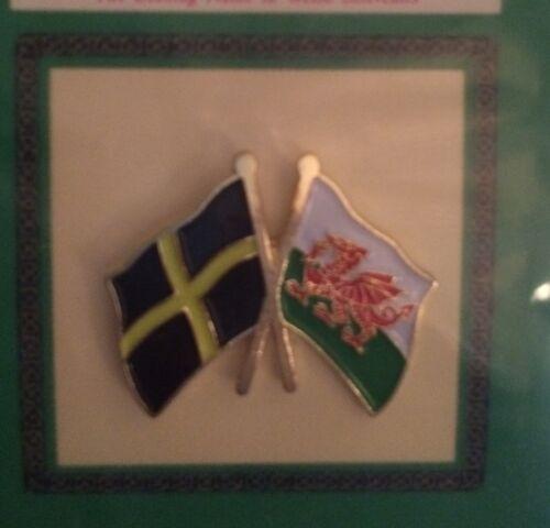 Welsh Flags Lapel Badge Rugby Football Wales Cymru St David Cross Nationalist bn