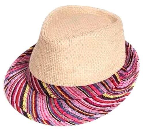 WOMENS STRAW TRILBY FEDORA PANAMA BEACH SUMMER SUN HAT FESTIVAL SUN SHADE HATS