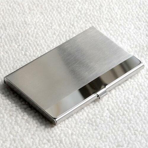 Pocket Stainless Steel/&Metal Business Card Holder Case ID Credit Wallet Silver Q