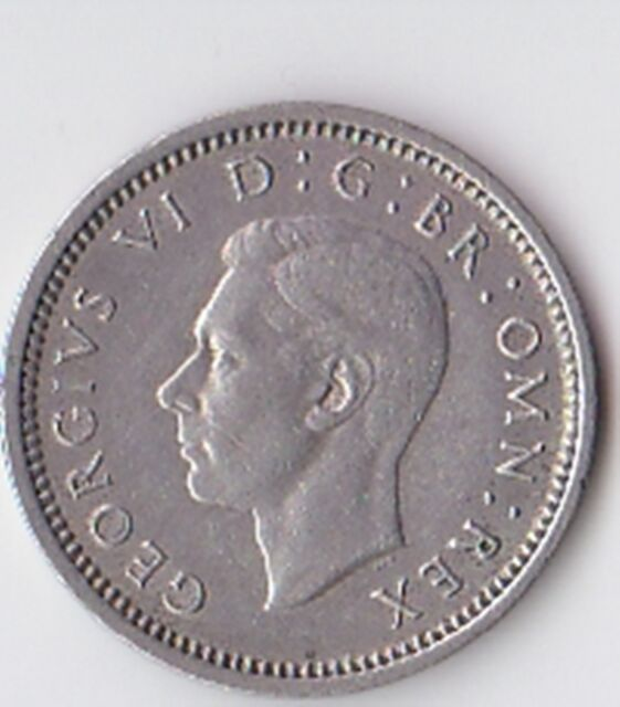British Coin - GEORGE V1 1940 SILVER THREEPENCE PIECE