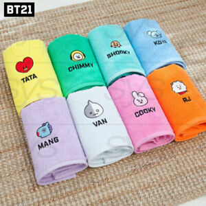 BTS BT21 Official Authentic Goods Bath Cotton Towel Facial name Ver 40 x 80cm
