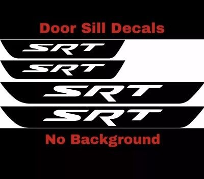 4x Hellcat Door Handle Decal Sticker Logo Charger Challenger SRT Hemi Mopar