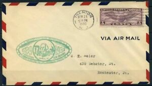 Stati-Uniti-1932-Mi-321-Busta-100-Posta-Aerea
