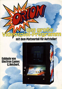 Diplomatic Orion Distributing Ger Video Flyer Crazy Price Arcade, Jukeboxes & Pinball Manuals & Guides