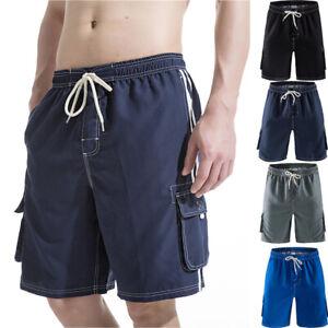 f432fb40f5ecd Mens Boy Quick Dry Beach Board Shorts Swim Trunks W/ Cargo Pockets ...