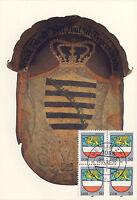 AK: Posthausschild Sachsen, Hoyerswerda, 1806-1815 mit Briefmarken + Tagesstempe