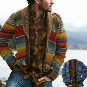 CARDIGAN-DURABLE-AUTUMN-WINTER-STRIPE-COAT-Long-SLEEVE-OPEN-FRONT-KNITTED-JACKET