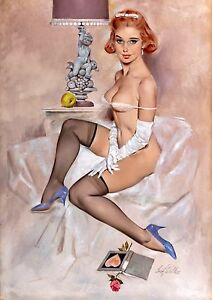 Vintage 1950/'s Pin Up Poster 2 A4//A3//A2//A1 Print