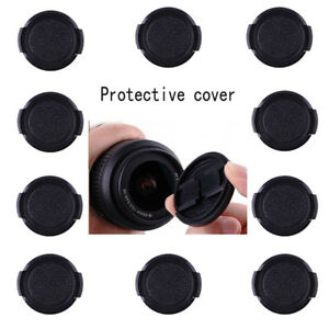 58mm-Kunststoff-Snap-on-Front-Lens-Cap-Cover-fuer-SLR-DSLR-Kamera-Canon-Nikon-50pcs