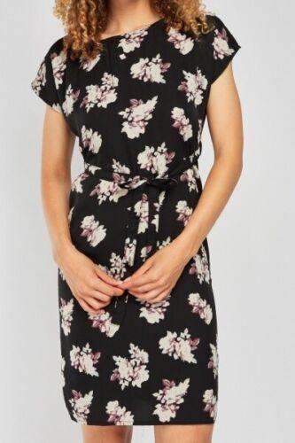 12-14 16-18 Ladies Black Floral Shift Summer Dress UK Sizes 8-10 20