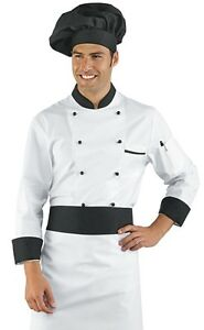 CASACCA-CHEF-Aiuto-Cuoco-Cucina-FORZA-JUVENTUS-JUVE-Bottoni-Amovibili-59200